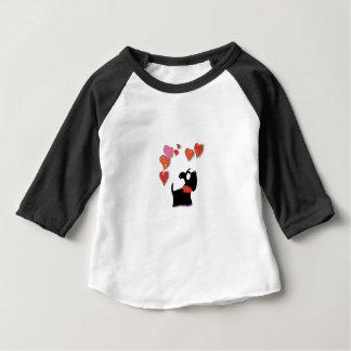 Camiseta Para Bebê Corações do amor do cão do Scottie