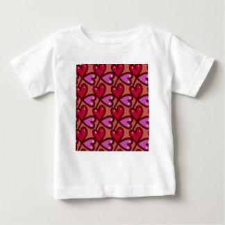 Camiseta Para Bebê Corações sem emenda #2