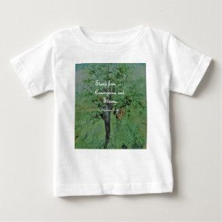 Camiseta Para Bebê Corajoso do suporte e forte firmes