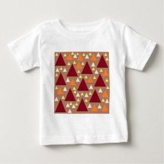 Camiseta Para Bebê cordilheiras cobertas neve da queda do pixel