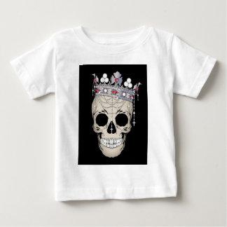 Camiseta Para Bebê Coroa do horror do Dia das Bruxas do quadro do