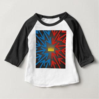Camiseta Para Bebê Coroa dourada