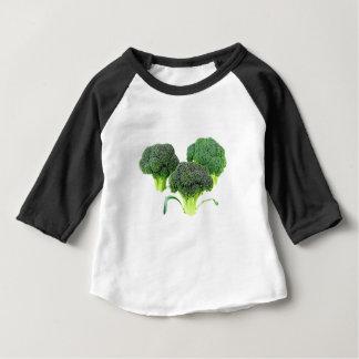 Camiseta Para Bebê Coroas verdes dos brócolos no branco