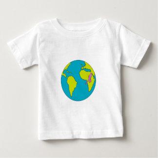 Camiseta Para Bebê Corredor de maratona que funciona Ámérica do Sul
