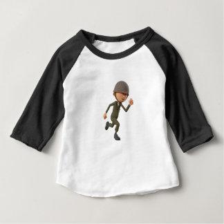Camiseta Para Bebê Corredor do soldado dos desenhos animados