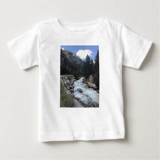 Camiseta Para Bebê Córrego da montanha rochosa
