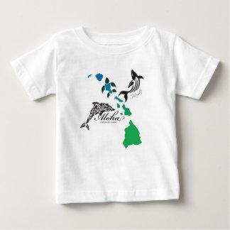 Camiseta Para Bebê Corrente das ilhas de Havaí - golfinho e baleia de