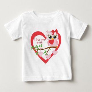 Camiseta Para Bebê Coruja bonito do amor