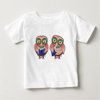 Camiseta Para Bebê Coruja curiosa na cerceta Glasses2