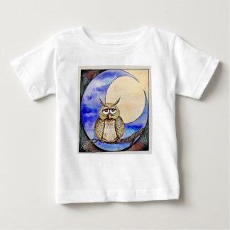 Camiseta Para Bebê Coruja de noite