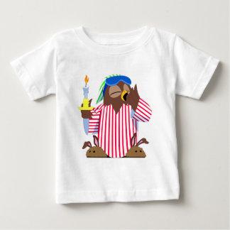 Camiseta Para Bebê Coruja sonolento do Natal