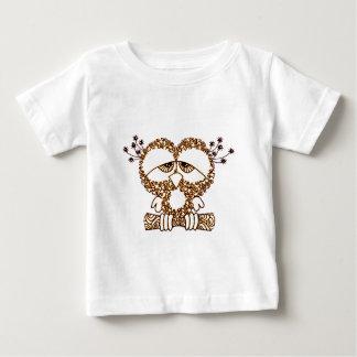 Camiseta Para Bebê Coruja triste