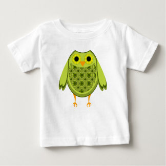 Camiseta Para Bebê Coruja verde