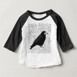 Camiseta Para Bebê Corvo preto