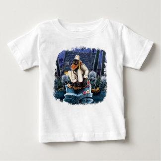 Camiseta Para Bebê Cosmo no palácio da lua