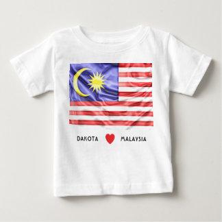 Camiseta Para Bebê Costume mim bandeira do coração de Malaysia