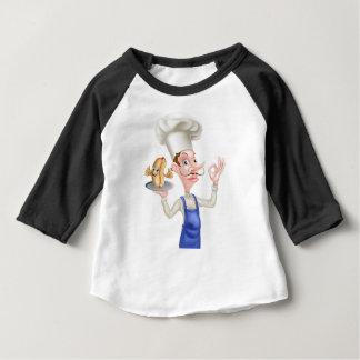 Camiseta Para Bebê Cozinheiro chefe com Hotdog perfeito