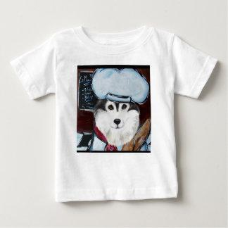 Camiseta Para Bebê Cozinheiro chefe do Malamute do Alasca