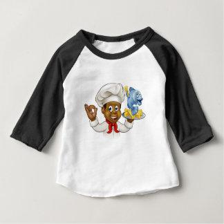 Camiseta Para Bebê Cozinheiro chefe do peixe com batatas fritas dos