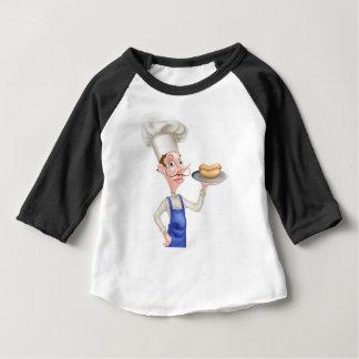 Camiseta Para Bebê Cozinheiro chefe dos desenhos animados com