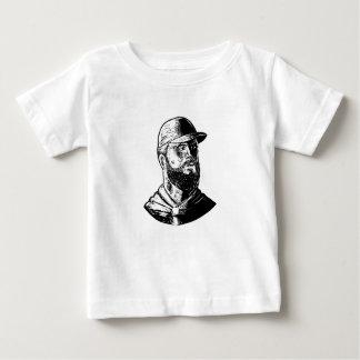 Camiseta Para Bebê Cozinheiro chefe farpado Scratchboard