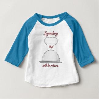 Camiseta Para Bebê Cozinheiro chefe pequeno