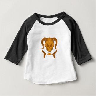 Camiseta Para Bebê Crânio com arma