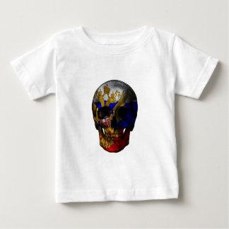 Camiseta Para Bebê Crânio da bandeira do russo