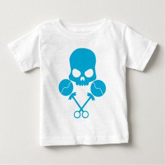Camiseta Para Bebê Crânio de Rattler - no azul de provocação da