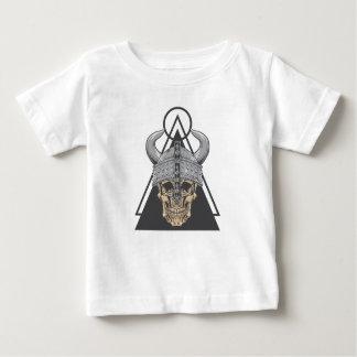 Camiseta Para Bebê Crânio de Viking