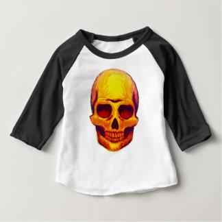 Camiseta Para Bebê Crânio do esboço