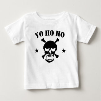 Camiseta Para Bebê Crânio do pirata de Yo Ho Ho
