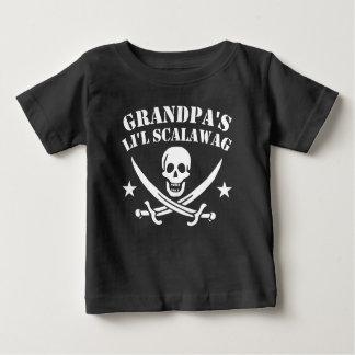 Camiseta Para Bebê Crânio do pirata do Scalawag do Li'l do vovô