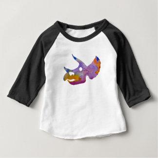 Camiseta Para Bebê Crânio do Triceratops