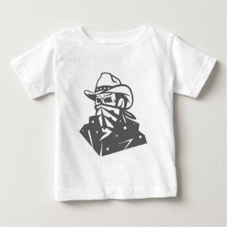 Camiseta Para Bebê Crânio do vaqueiro com Bandana e chapéu