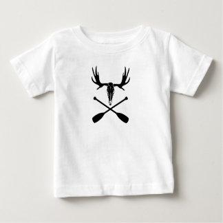 Camiseta Para Bebê Crânio dos alces e pás cruzadas