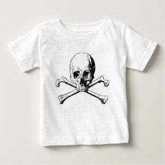 Camiseta Para Bebê Crânio dos Crossbones