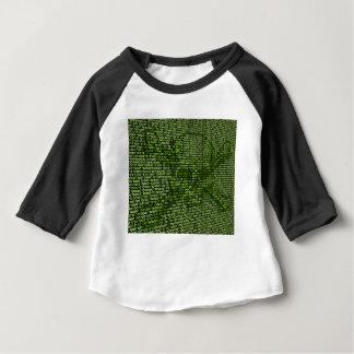Camiseta Para Bebê Crânio e conceito em linha da ameaça dos