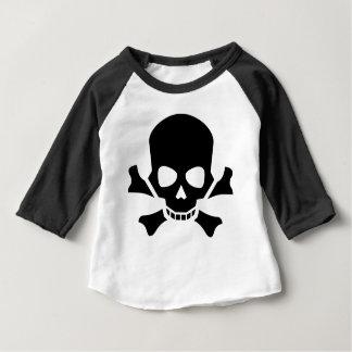Camiseta Para Bebê Crânio e Crossbones
