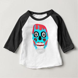 Camiseta Para Bebê Crânio estrangeiro