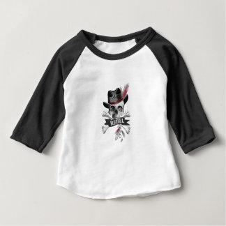 Camiseta Para Bebê Crânio gótico do estilo tribal com gráfico da