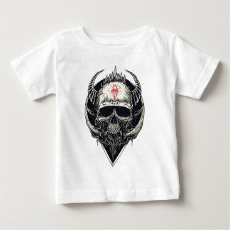Camiseta Para Bebê Crânio Horned do diabo