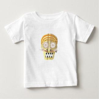 Camiseta Para Bebê Crânio musical nenhum t-shirt do bebê do fundo