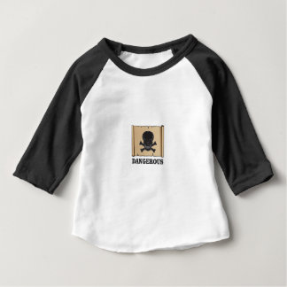Camiseta Para Bebê crânio no quadro preto