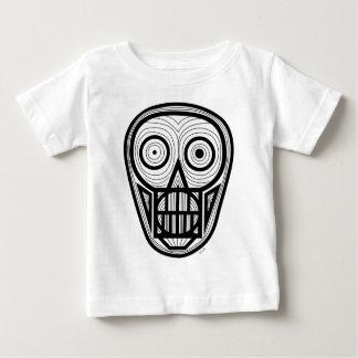 Camiseta Para Bebê Crânio psicadélico