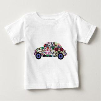 Camiseta Para Bebê Crânios do açúcar que olham o