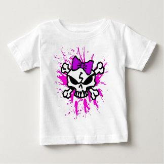 Camiseta Para Bebê Crânios e Crossbones