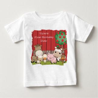 Camiseta Para Bebê Creeper da criança dos amigos do Barnyard do bebê