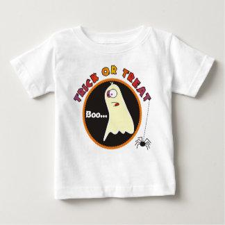 Camiseta Para Bebê Creepers engraçados do bebê do fantasma da doçura