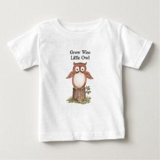 Camiseta Para Bebê Cresça crianças sábias da coruja pequena e t-shirt